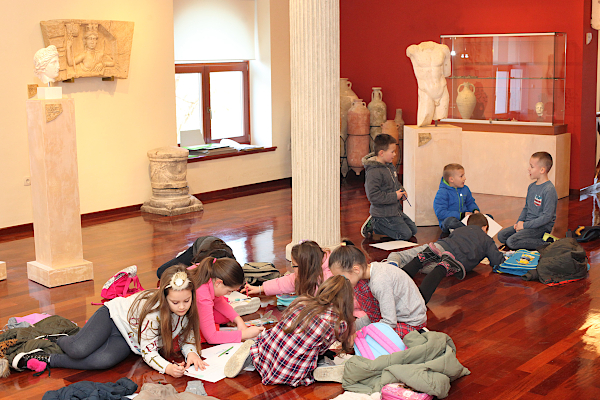 Mystery of History students in museum, Solin, Croatia