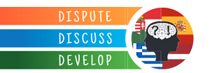 Dispute, Discuss, Develop logo