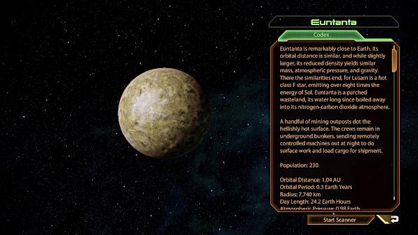Mass Effect planet index